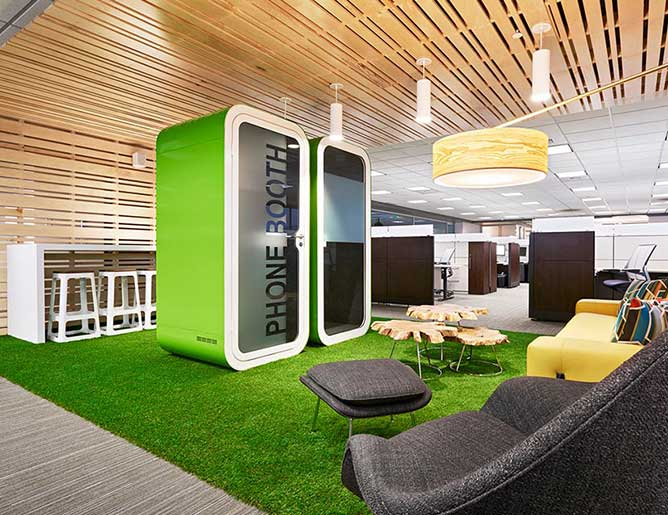 Phone booths for offices