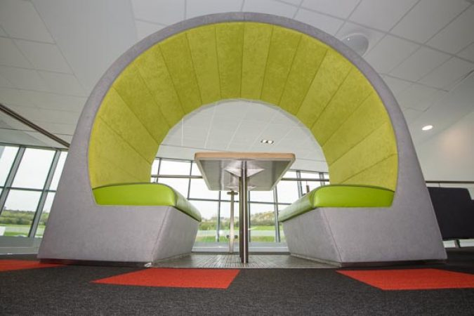 Seating Pods are essential open plan office furniture