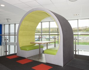 office pods for reception area