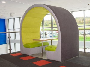 4 person open seating pods