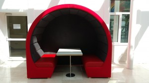 Red office pod