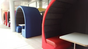 Closed seating pods